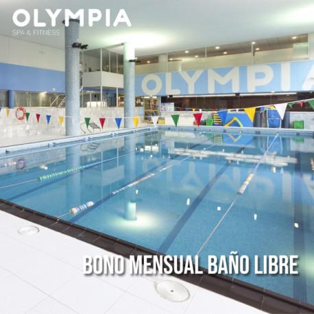 Bono mensual de piscina libre