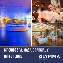 Spa Day with Massage and Buffet, drinks included