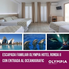 Family Gateaway in Ronda Hotel with Ticket to Oceanografic